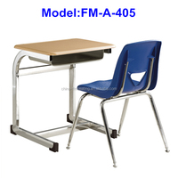 FM-A-405 Metal frame school student desk and chair attached