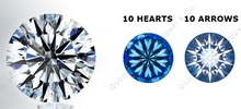 the best price you can get- 6.5mm 10 Hearts 10 Arrows CZ gemstone