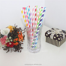 Party Supply Colorful Flexible Paper Drinking Straws