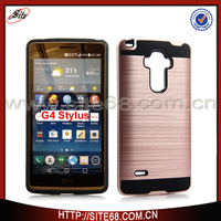 Beautiful rose gold color hot sale combo mobile phone case for lg g4 stylus