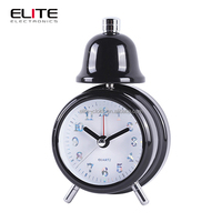Real bell led light alarm clock with metal case