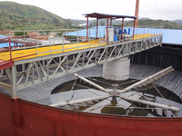 Mining thickener for mine dress use