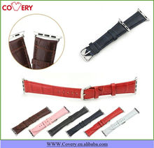 Classic Buckle Crocodile Genuine Leather Band for Apple Watch Adapter included