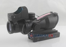 Airsoft Trijicon 4x32 ACOG TA31 Type Cross Scope Riflescope w GL 4x32C2 Real red fiber (with brightness sensitive viewer)