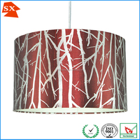 handicrafts made of abaca hardware plastic screw covers red lamp shade