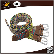 2015 Fashion Canvas Custom Printed Web Braided Nylon Belt