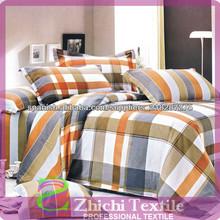 plaid tela de algodón de destino conjuntos de ropa de cama