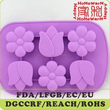 6 cavity flower cake pan silicone baking pan flower cup bakeware