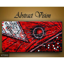 Handmade new modern wall decoration Oil painting on canvas, Abstract Modern Painting,Red Blakc,Velentine art ,abstract Vision