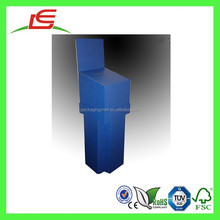 E0041 China Alibaba Manufacture Durable Blue Cardboard Floor Standing Display Units, Entry Ballot Box