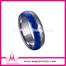 New products wholesale silver blue ceramic men ring model