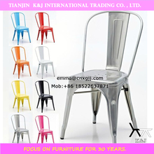 J006 promotion outdoor chair antique metal chairs powder coating metal chair