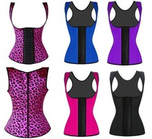 2015 Hot Sale New style high quality young girls slimming corsets Sexy Latex 9pcs steel bone waist trainers