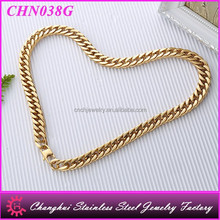 high quality gold plated necklace stainless steel