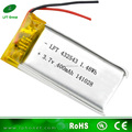 Al consumidor china de importación 432543 li polymer batería 3.7 v con 400 mah litio alta densidad