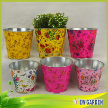 Handicraft Multi-using Excellent Design Flower Printing Home Goods Flower Pots