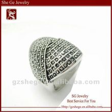 316L special design embossing ring stainless steel 2012 for ladies and man