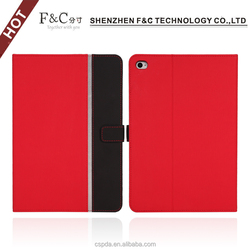 2015 back stand leather case for ipad mini4 with sleep function