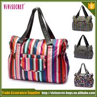 Bag manufacturer printing bag nylon ladies fashion travel duffle bag
