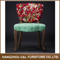 French Victorian Tufted provincial dining chair