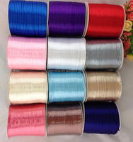 Free Shipping wholesale balloon ties hair bows 3mm width double faced handmade DIY 100% polyester satin ribbon,800meters/roll