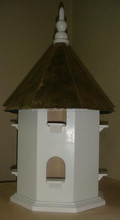 octagonal bird house with metal roof