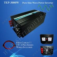 Off Grid Converter 3000W DC 12V 24V 48V To AC 110V 120V 220V 230V 240V Solar Inverter Pure Sine Wave