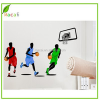 Colorful basketball star wall decals