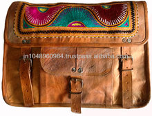 Beautiful Genuine Leather Bags with Hand Embroidered Artwork