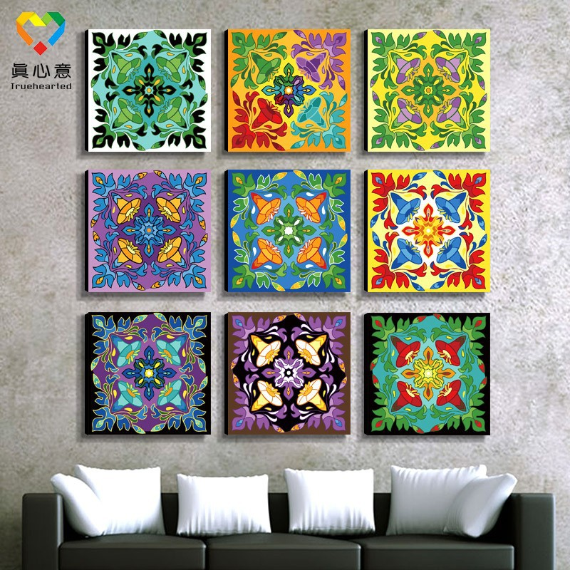 Kindergarten art and craft mandala fabric painting for Craft supplies online cheap