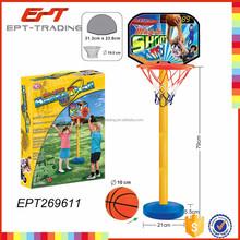 Vertical basketball hoop mini basketball pole game toy