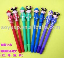 Polymer clay cute and fashion couple ball pen