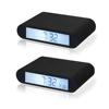 fujian xiamen led black digital alarm clock, flip clock wholesale gift items for resale for travel