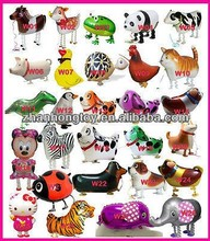 wholeslae many different-shaped foil mylar walking pet balloon