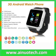 2015 New 3G Smart Watch Phone with GPS Wifi Waterproof Bluetooth MTK6572 Capacitive Touch Screen