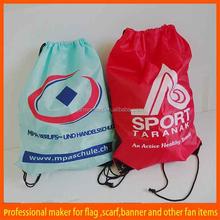 custom cheap nylon drawstring shopping bag
