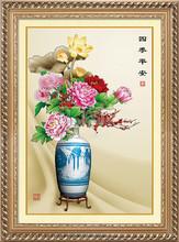 5D ROUND DIAMOND FLOWER CLASSICLA WALL ART VASE FOR HOME DECORATION