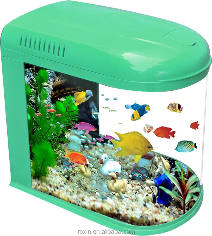Fashion glass bullet aquarium fish tank for guppy fish for Toys for betta fish