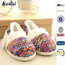 2015 sweet colorful Cashmere crochet shoes