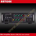 Amplificador Mezclador profesional de karaoke con MP3 USB y SD amplificador KPA-218
