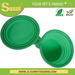 Silicone feeder collapsible dog bowl