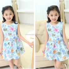 Wholesale flower pattern kids princess wedding dresses new design girls party dresses frock design for girls