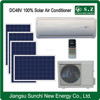 Low price DC48V variable 100% no AC power wall solar saving unit air conditioner