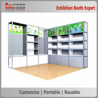 3x3m Aluminum frame advertising trade show exhibition booth