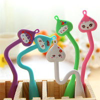 import New design stationery from korea office popular cute fancy silicone rubber pen