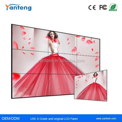 500nits 3.9mm Ultra Narrow Bezel 55inch samsung seamless video wall for exhibition