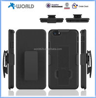 Qualified 3 in 1 with belt clip black rock phone case for iphone 6 4.7""
