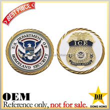 cheap fake gold coins / custom challenge coins / metal military coins
