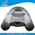 2015 Made in China precio de fábrica casco rígido de fibra de vidrio aerodeslizador bote inflable