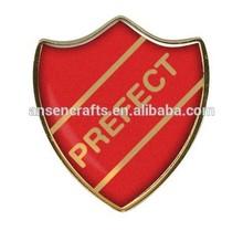Ventas calientes de encargo perfecto red esmaltado escudo insignia de la escuela